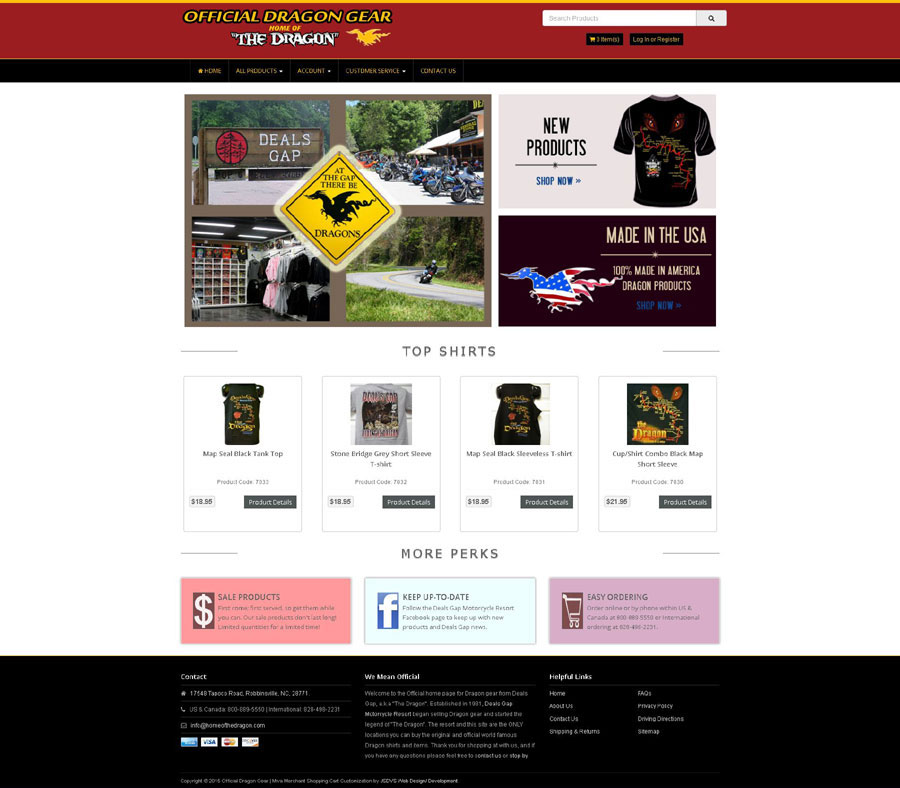 Official Dragon Gear Redesign, Miva Merchant PR9 Bootstrap Mobile Friendly