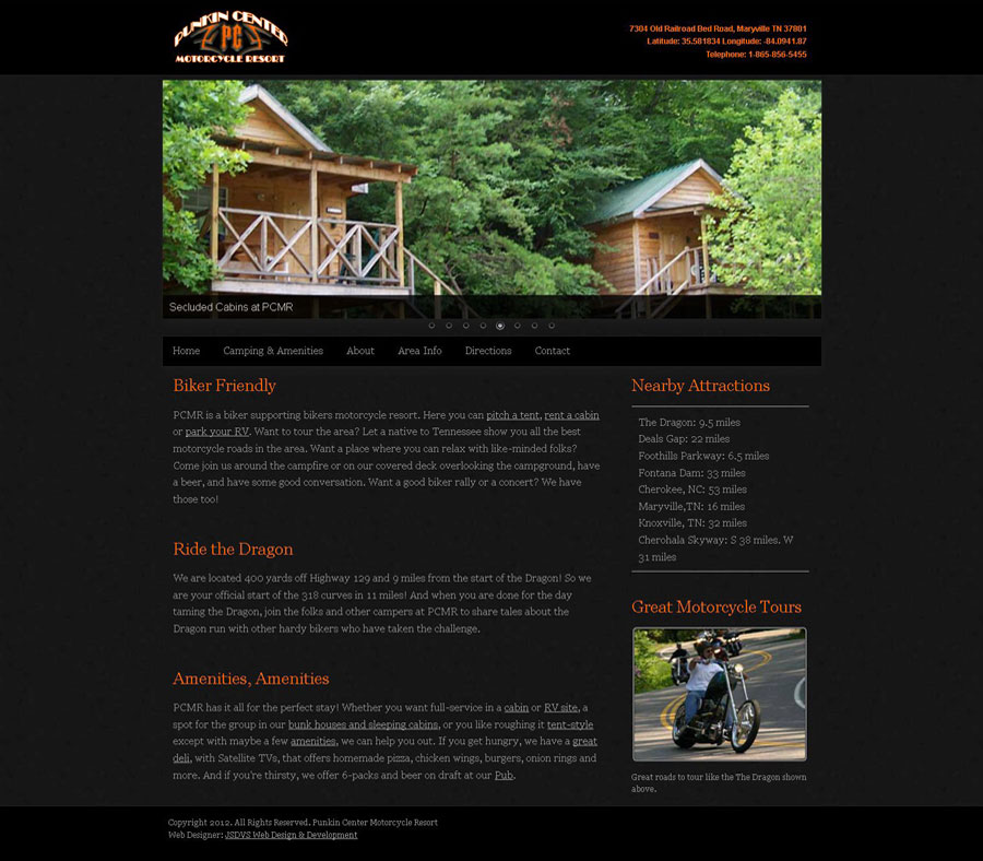 PCMR Motorcycle Resort and Campground, Mobile Friendly