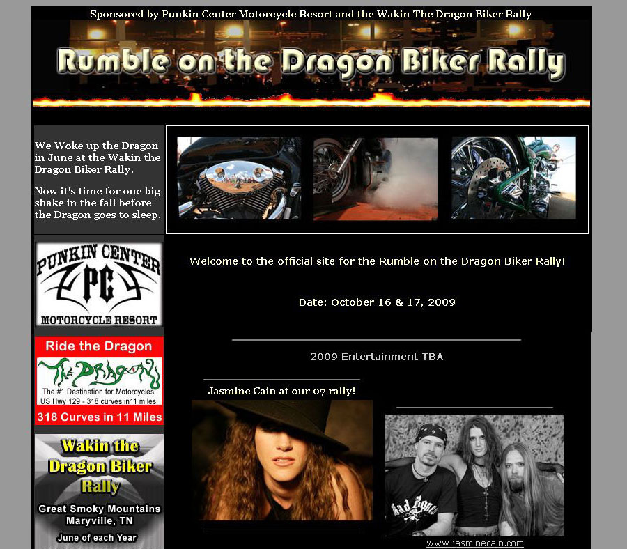 Rumble on the Dragon Biker Rally - Information Site